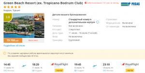 Горящие туры в Турцию, Бодрум на 7 ночей от 23 400 руб./чел. из Москвы с питанием Все включено.