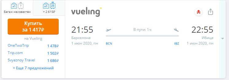 Распродажа от Vueling: полеты по Европе со скидкой до 30%.