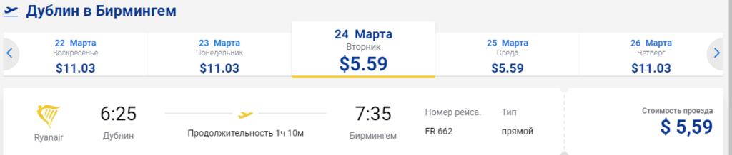 Распродажа от Ryanair: прямые рейсы по Европе от 5,59 $